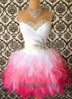 Sweetheart handmade mini prom dress for teens, bridesmaid dress, homecoming…