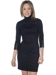 Amanda Uprichard Women's Zip Turtleneck Sheath Dress, on stbernardsports.com, $178
