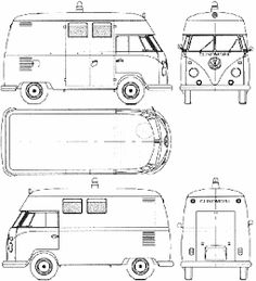 How to draw a VW bus step by step. Drawing tutorials for