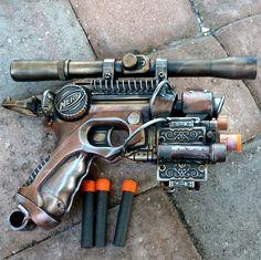 Steampunk Victorian TESLA Gun Nerf ZOMBIE by oldjunkyardboutique, $49.99