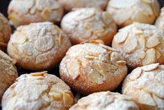 Light almond orange blossom cookies - Galletas de almendra y azahar