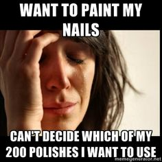 I totally feel this pain whenever I go to polish my toe nails lol
