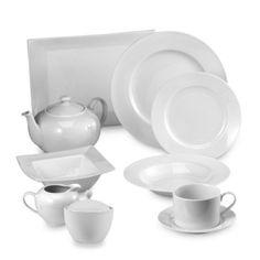 Everyday White® Rim Dinnerware Collection - BedBathandBeyond.com