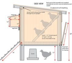 images about COOP BUILDING PLANS on Pinterest   Chicken coop    Hen House  amp  Hutch Design
