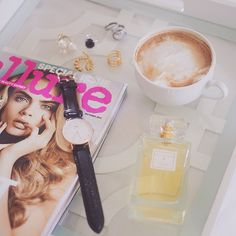 All we need in life: time, coffee and a bouquet of flowers- Trellis Eau de Parfum.