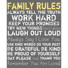 I pinned this Family Rules Framed Wall Art in Gray from the Buyers' Picks event at Joss and Main!