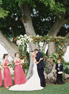 Bridesmaid Dresses: Amsale - http://www.stylemepretty.com/portfolio/amsale-2 Florist: MMD Events - http://www.stylemepretty.com/portfolio/mmdevents Event Planning: NK Productions Wedding Planning - http://www.stylemepretty.com/portfolio/nk-productions   Read More on SMP: http://www.stylemepretty.com/2016/12/20/citrus-infused-florida-wedding/