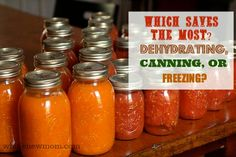 Which food preservation method is the most frugal? Dehydrating, Canning, or Freezing? The answer might surprise you!