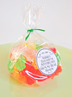 Gummi Bear Soaps 3 oz mixed fruit scented by AubreyEApothecary