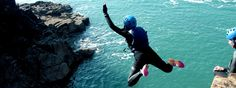 Coasteering, Pembrokeshire, Wales - Adventure holidays have been growing in popularity! Pembrokeshire Wales, Cliff Diving, Adventure Holiday, A Whole New World, Oh The Places You'll Go, Outdoor Activities, Coast, Mexico, Explore