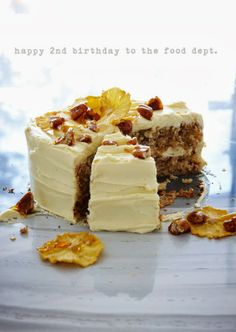 Hummingbird Cake with Toffee Pecans via The Food Dept. #recipe