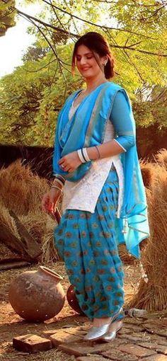 white and blue punjabi patiala salwar suit - with white kurta and blue brocade salwar - unstitched d Punjabi Salwar Suits, New Punjabi Suit, Patiala Dress, Punjabi Suits Party Wear, Patiala Salwar Suits, Punjabi Dress, White Punjabi Suits, Salwar Pants, Sharara