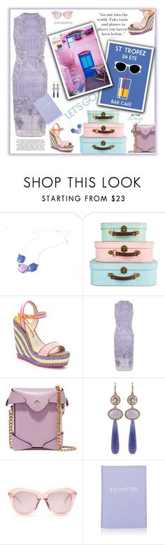 """""""Aller a Saint Tropez"""" by fassionista ❤ liked on Polyvore featuring Sophia Webster, Topshop, MANU Atelier, Irene Neuwirth, Karen Walker, Barneys New York, summerstyle, pastels and outfitsfortravel"""