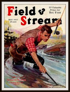 Field and Stream Fishing Magazine Cover Print 1933 by BloominLuvly