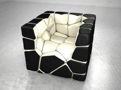 Fauteuil Vuzzle Chair de Christopher Daniel