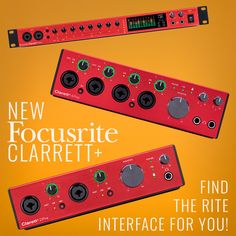 New from Focusrite, Clarrett+ interfaces feature all-analog Air Premium preamps, new and improved A-D/D-A converters, analog headphone outs, and ADAT optical input connectivity for clear, nuanced sound in any setting. Preorder your new Clarrett+ in one of three sizes today! . . . . #chicagomusicexchange #chicagosynthexchange #FocusRite #Studio #Interfaces #synthtalk #synthplayer #tonemob #knowyourtone #gearwire #gearybusey The Rite, Cool Gear, Keys, Chicago, Studio, Music, Musica, Musik, Key