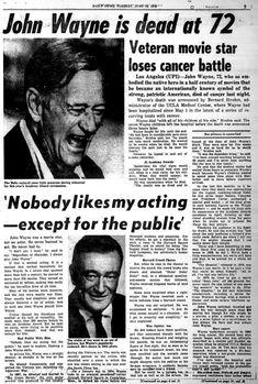 Image Result For John Wayne Died