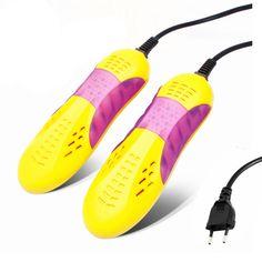 YiJiA Brand Race Car Shape Voilet Light Shoe Dryer Foot Protector Boot Odor Deodorant Device Shoes Drier Heater 220V 10W EU Plug