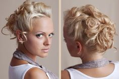 blonde messy curly updo