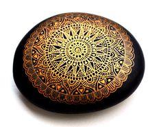 Hand Painted Stone Mandala
