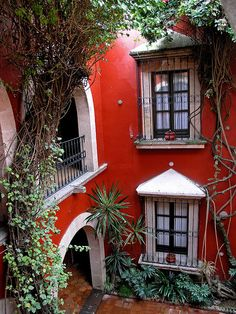 Hotel De La Soledad from the 17th century, Morelia, MEXICO.