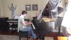 Another student doing a fantastic job at the Fall Fun Piano Party