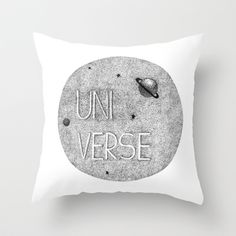Universe Throw Pillow by StudioSotron - $20.00