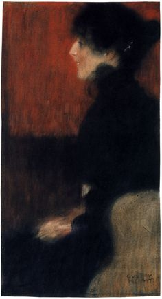 Portrait of a Lady, 1897,   Gustav Klimt  Medium: pastel on paper