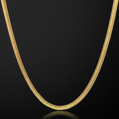 14k Yellow Gold Herring Bone Chain 1.3 mm Width 20.0 Inch Long (1.7 Grams) by RG&D..|||| #14kt #gold #chain #jewelry #metal #goldchain #whitegold #yellowgold #mens #women #his #her #style #fashion #online #shopping #chains #goldchains #follow #pinterest #richmondgoldanddiamond