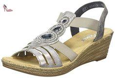 Rieker 62459 40, Sandales femme, Gris (Grey), 40 EU (6.5 UK) - Chaussures rieker (*Partner-Link)