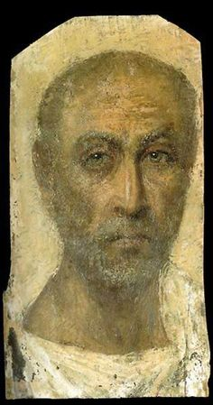 Funerary portrait of an older man, Egypt-Roman Period