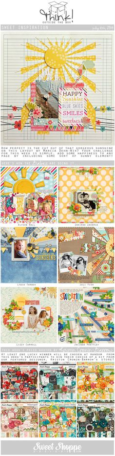 Looking for a fresh new take on a scrap challenge? Check out Sweet Shoppe Designs' Think Outside The Box challenge for July 6th and scrap along for your chance to win a kit from our Featured Designer's store and to start earning discounts every month!