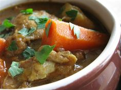 Moroccan-Spiced Chicken Stew :: i used to live with a Moroccan lady and she made the best chicken stew with rice! i should have written down the recipe. But here's one i found to try