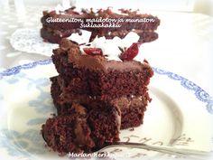 Gluteeniton, munaton ja maidoton suklaakakku