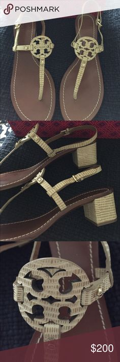 Brand new Tory burch sandals Brand new sandals in French tan . Tory Burch Shoes Sandals
