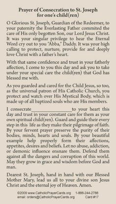 Free Catholic Holy Cards - Catholic Prayer Cards - St Therese of Lisieux - St. Joseph - Our Lady of Guadalupe - Sacred Heart of Jesus - John Paul the Great - Support Missionary work Prayer For My Children, Prayer For Family, Quotes Children, Parents Prayer, Catholic Prayers, Catholic Traditions, Catholic Doctrine, Special Prayers, Spiritus