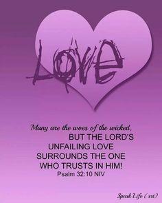 Psalm 32: 10 NIV