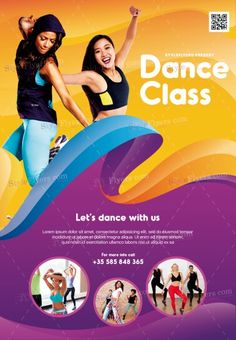 Dance Class PSD Flyer Template and more than Premium PSD flyer templates for event, loud party or successfull business. Zumba Benefits, Online Dance Classes, Dance Logo, Facebook Cover Design, Flyer Design Inspiration, Psd Flyer Templates, Flyer Layout, School Dances, Instagram Design