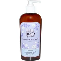 Hugo Naturals, Baby, Shampoo & Baby Wash, Tear-Free, Chamomile ... Soothing Baby, Gentle Baby, Baby Lotion, Baby Shampoo, Safe Cosmetics, Natural Shampoo, Natural Baby, Sans Gluten, Vitamin E