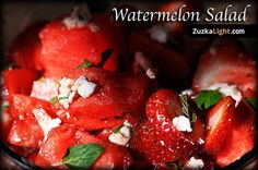 Watermelon Salad! Must try!  New Recipe Video on my website and my update on the 30 day vegetarian challenge.