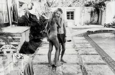 Helmut Newton, Mick Jagger & Jerry Hall, 1970s.