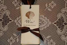 75 Wedding Wish Tree Hang Tags handstamped with Sea Shell