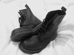 Black smooth Doc martens, next shoe mission