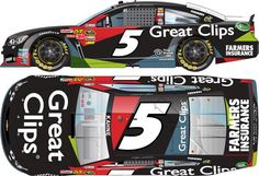 2013 KASEY KAHNE #5 GREAT CLIPS 1/24 ACTION DIECAST
