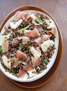 Lentil Salad with Mozzarella & Prosciutto | Williams-Sonoma Taste
