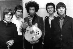 The Who and Jimi Hendrix.