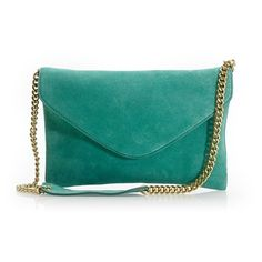 Invitation clutch in suede found on Polyvore