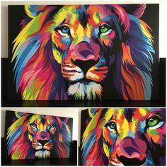 León de colores
