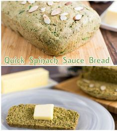 This Quick Spinach Sauce Bread is made with simple pantry staples. It is a great way to hide veggies and yet provide nutrition to your family. Spinach Bread, Yeast Free Breads, Sweet Potato Bread, Hidden Veggies, Best Vegetarian Recipes, Quick Bread Recipes, Dairy Free, Healthy Breads, Good Food