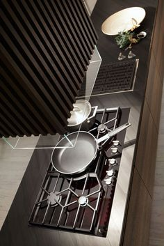 Rough and sophisticated Rational Kitchen suites : Modern Stove In Wooden Kitchen Island Modern Kitchen Ovens, Gas Stoves Kitchen, Minimalist Modern Kitchens, European Kitchen Cabinets, Rustic Kitchen Cabinets, Wooden Kitchen, Cool Kitchens, Contemporary Kitchens, Dream Kitchens
